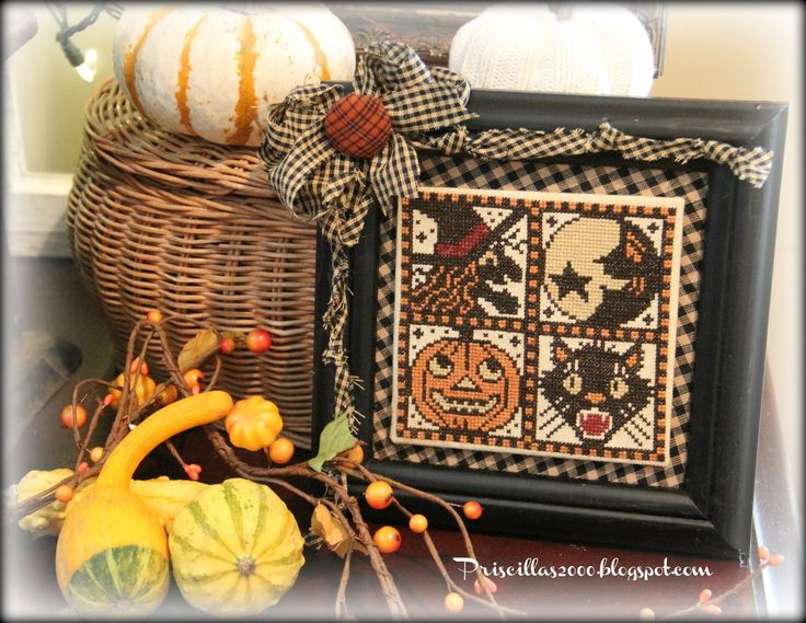 Happy Monday!  I finished up the small chart from the Prairie Schooler Witches go Riding chart last week and got it ready to display to...