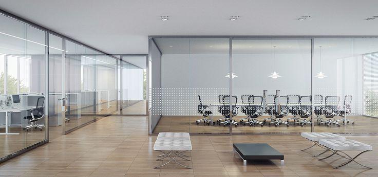 Frameless Double Glazed Office Patitions