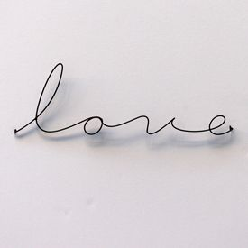 LOVE metal script type by Gauge NYC #love ... http://giftideasforwomen.professorsopportunities.com/