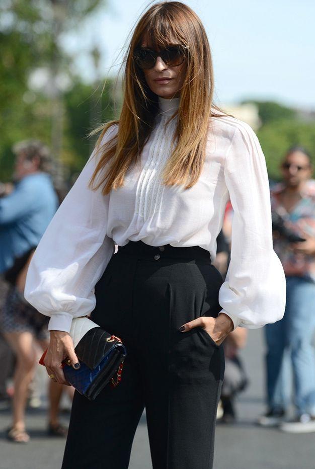 Caroline de Maigret outside the Chanel Haute Couture in Paris.
