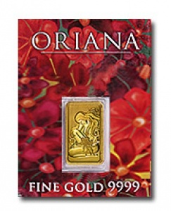 Collectors gold bar 'Oriana' rare...