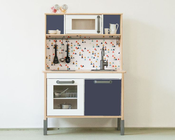"""Ikea kitchen sticker Set """"TRIANGLIG"""" - Pimp your Ikea DUKTIG play kitchen (1W-SK03-02) - Children gift - Furniture not included by Limmaland on Etsy https://www.etsy.com/listing/246931840/ikea-kitchen-sticker-set-trianglig-pimp"""