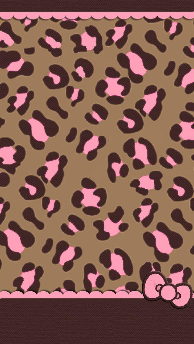 Pink and brown cheetah wallpaper - photo#6