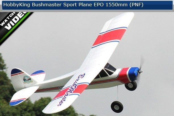 Winter Schnäppchen - HobbyKing Bushmaster Sport Plane EPO 1550mm (PNF) - Baugleich Multiplex FunCub
