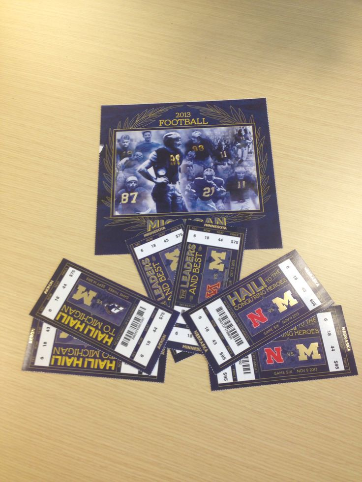 Tickets to 2013 Michigan Football home games.