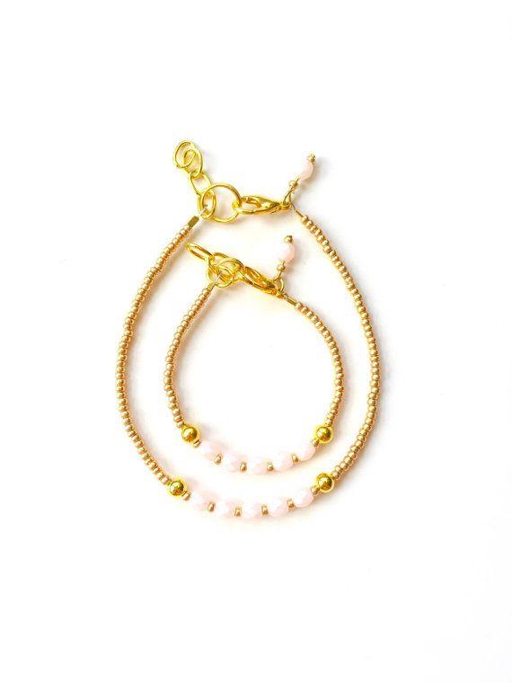 Mommy Me Baby Bracelet girl baby bracelet by JuneandPenny