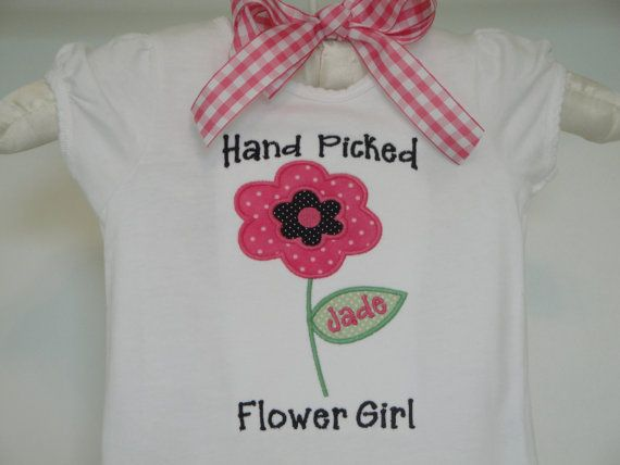 Personalized flower Girl Shirt Flower Girl by OhSoCheekyBoutique, $24.99