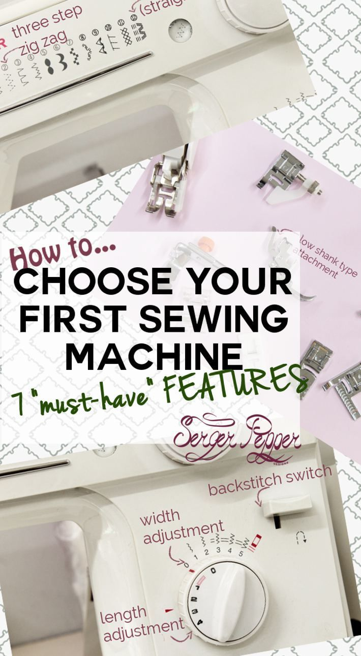 Choosing your first sewing machine is hard: do I need to buy the best one I can afford? Which features are a must-have? This post was written thinking of you! Best types of sewing machines for beginners... on SergerPepper.com