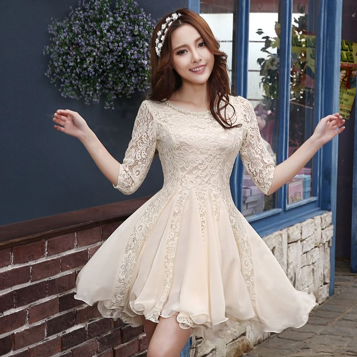 Find More Information about Vintage Lace Wedding Dress Short Puffy With Sleeves Vestido De Noiva 2015 Cheap Wedding Dresses Made In China Champagne Simple,High Quality dress shipping,China dresses with empire waist Suppliers, Cheap dress latin from Princess Sally International Co.,Ltd on Aliexpress.com