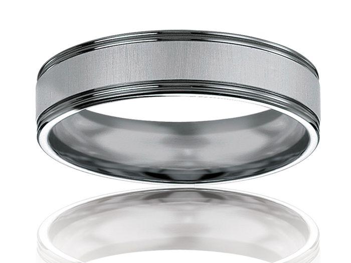 anneau Ruthénium - Blanc - Ruthénium, Alliance de mariage Ninosi 5,5, Alliance Breuning, 48-07152-56VG14K