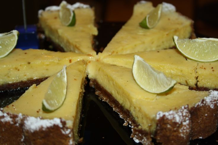 Zesty key lime pie! Tongue tinglingly fresh!