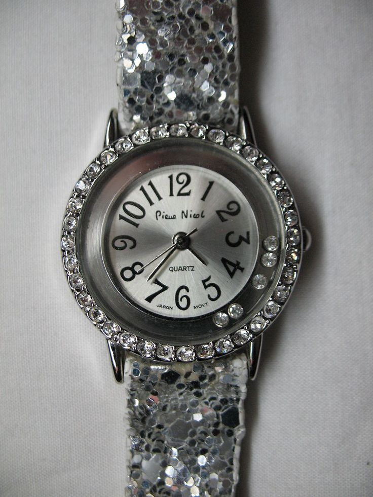 Pierre Nicol Ladies Silver Glittery Vintage Watch with ...