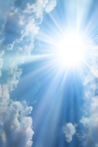 Just looking at this picture of the sun makes the winter blues feel better!