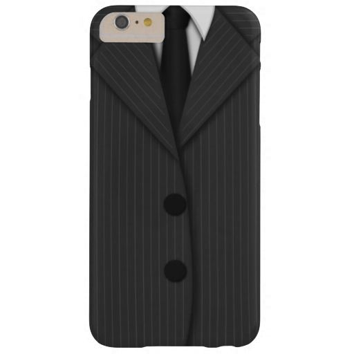 Gray Pinstripe Suit Tie Slim iPhone 6 Plus Cases Barely There iPhone 6 Plus Case pinstripe man's suit and, classy grey, elegant, cool business man, black and gray, quality, masculine, stylish stripe mans suit, unique fashion, designer, personalized, case for, i phone 6, iphone 6 skin, best, buy online, coolest