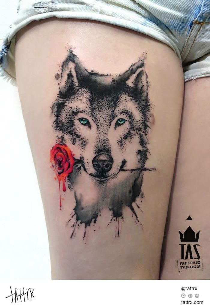 103 besten wolf tattoos bilder auf pinterest wolf tattoos w lfe und tiertattoos. Black Bedroom Furniture Sets. Home Design Ideas