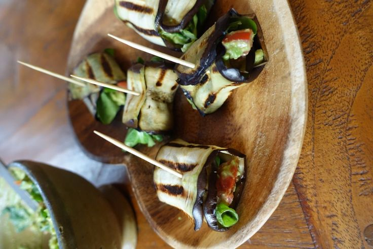 Gegrilde auberginerolletjes recept- Lisa goes Vegan