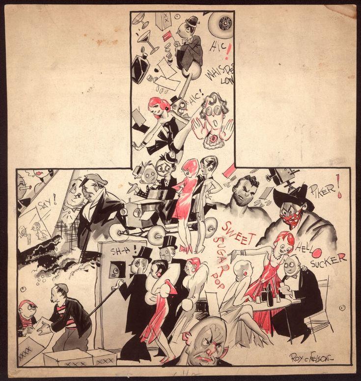Roy Nelson - illustration ca 1930 Comic Art