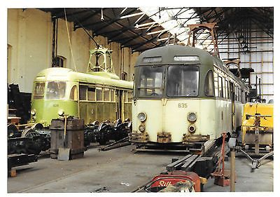 Tram Blackpool Corporation Tramways Brush Trams 624 & 635 in Depot, mid 1980s  | eBay