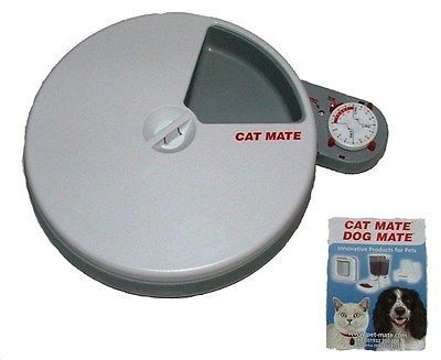 Cat Mate Automatic Cat Timed Wet or Dry Food Feeder ~ 5 Feeding Trays