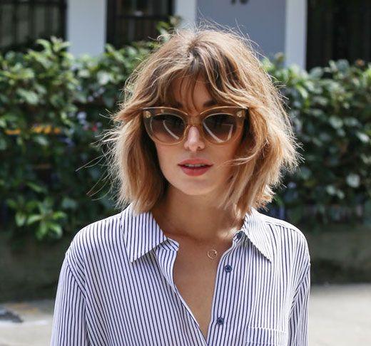 Sonnenbrille und chaotisch Bob | Haarschnitt Inspiration | b … – #Bob #Haircut #INSPIRATI …