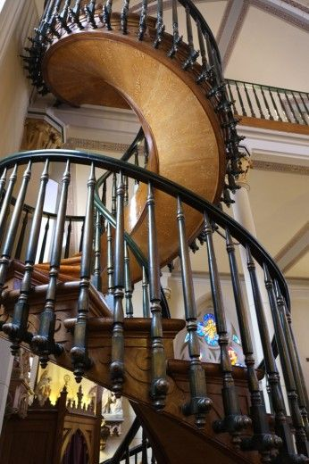 "The ""Miracle Staircase"" at the Loretto Chapel"