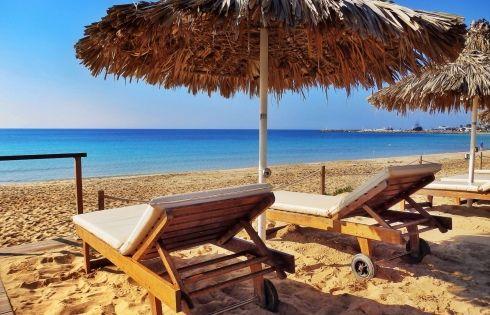Grecian Bay Hotel Beach - Ayia Napa, Cyprus http://www.grecianbay.com