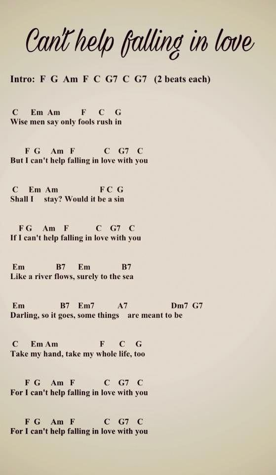 Can't Help Falling in Love Guitar Chords, Guitar Lesson
