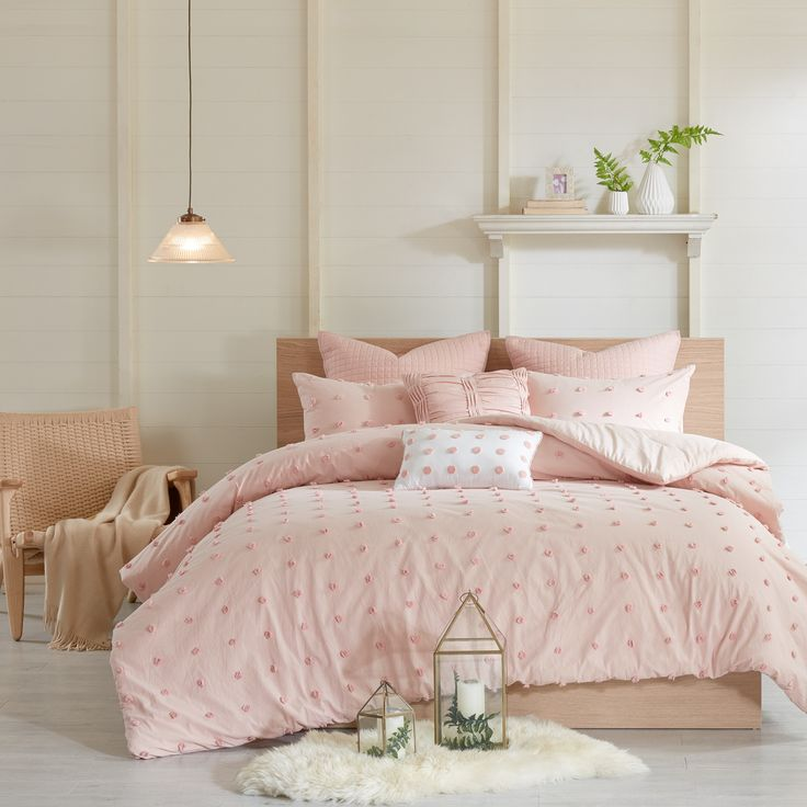 Urban Habitat Maize Pink Cotton Jacquard Comforter Set | Overstock.com Shopping - The Best Deals on Comforter Sets