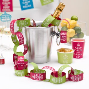 Keep calm party paper chains add colour and decoration for a celebration.  From the Fuschia Boutique at www.fuschiadesigns.co.uk.