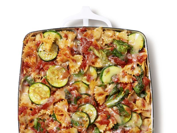 Mix-and-Match Baked Pasta: This step-by-step guide from #FNMag leads to thousands of possibilities!: Dinner, Food Network, Baked Pasta, Zucchini, Baked Farfalle, Casserole, Pasta Recipes, Mix And Match Baked