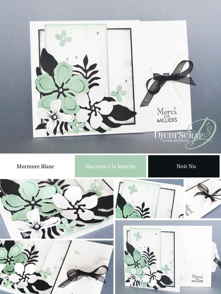 "Djudi'Scrap Stampin'Up! - Tutoriel Carte Remerciements ""Etiquette Festonnée, Framelits Paysagiste / Scalloped Tag Topper, Botanical Builder Framelits Dies"""