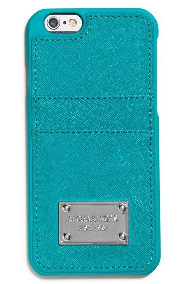 MICHAEL+Michael+Kors+Saffiano+Leather+iPhone+6+Case+available+at+#Nordstrom