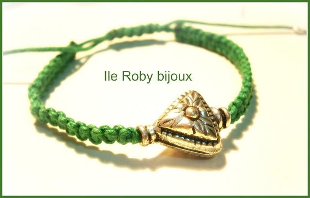 braccialetto macramè verde - moda primavera estate 2013 - accessori handmade ile roby bijoux