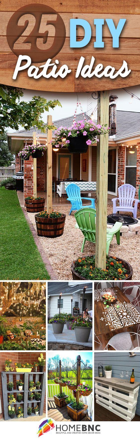 25 Dazzling DIY Patio Decoration Ideas to