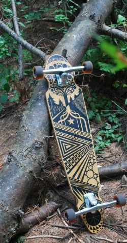 AMAZING long board deck by MWM and  GreenStreet.
