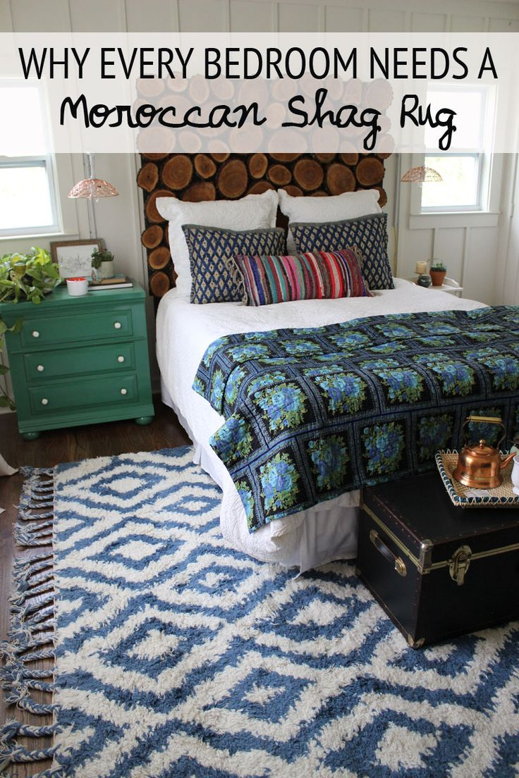 Why every bedroom should have a moroccan shag rug the for Small rug for bedroom