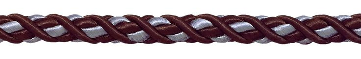 """Large Brown, Light Blue Baroque Collection 7/16"""" Decorative Cord Without Lip Style# 716BNL Color: MOCHA ICE - 24B (Sold by The Yard)"""