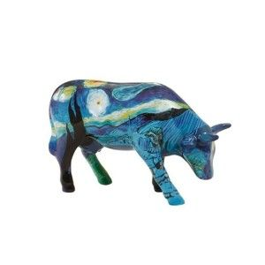 Vincent's Cow Figurine In 2006 Boston held a Cow Parade where life size, sculpted and colorful cows, stood on parade. This is a small replica of the Vincent's cow that was on parade.