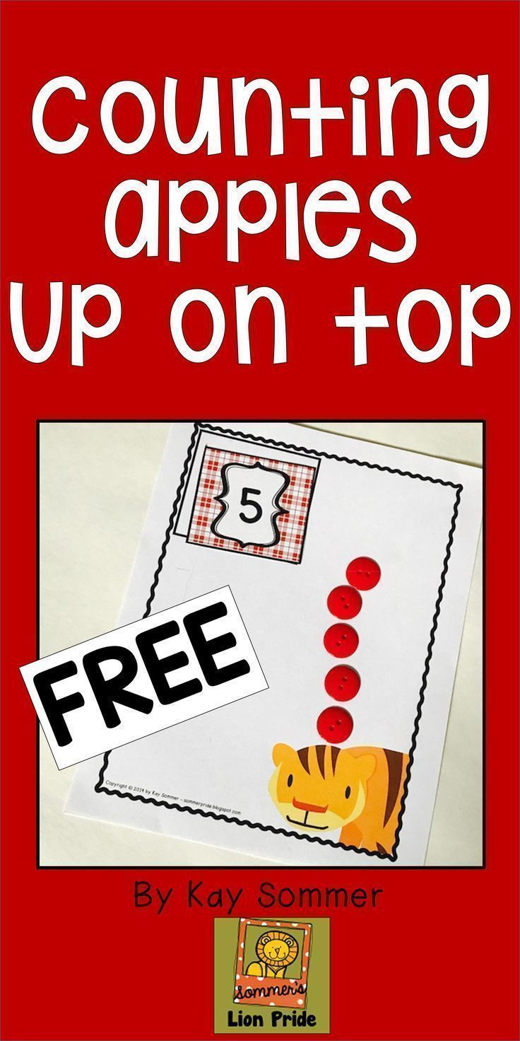 Work on counting 1-10 with this apple themed freebie! | Apples ...