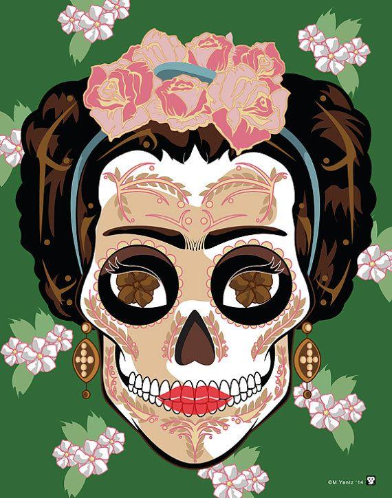 Les 702 meilleures images du tableau dia de los muertos sur pinterest calavera jour des morts - Deguisement frida kahlo ...