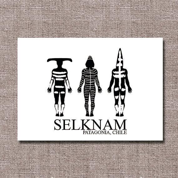 He encontrado este interesante anuncio de Etsy en https://www.etsy.com/es/listing/256513157/imprimible-a3-selknam-patagonia-chile