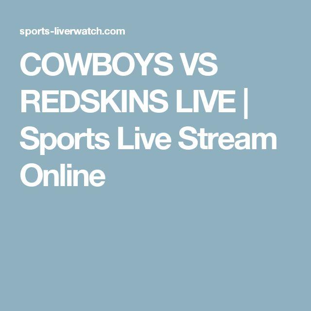 COWBOYS VS REDSKINS LIVE | Sports Live Stream Online