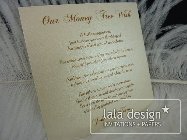 Shimmery gold gift suggestion card