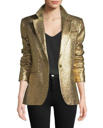 8d67aeee8d54 TXFR3 Milly Eva Metallic Blazer Jacket | KN - Fashions | Blazer ...