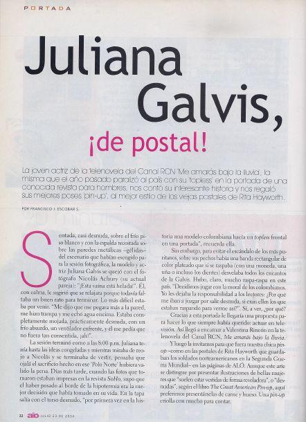 Juliana Galvis en la Revista Alo