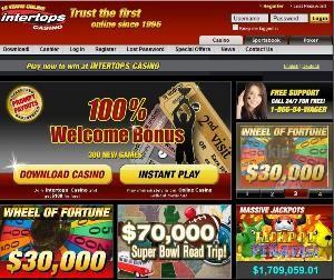 Intertops Casino, favourite online gaming destination since 1996