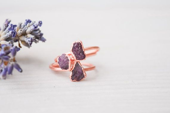 Ruby ring  Rough Ruby ring  Raw Ruby ring  Natural by MistyLines