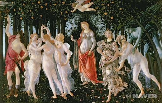 봄 (프리마베라) (Primavera)  산드로 보티첼리(Sandro Botticelli)