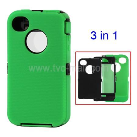 Detachable Defender Case for iPhone 4 4S - Black / Green  — 1.34 руб. —  iPhone 4S defender case, brand new and high quality, detachable, black / green colour, well protective, with a screen film inside the hard case, give your cell phone a new look, perfect fit to iPhone 4 4S.