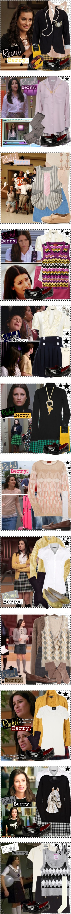 """Rachel Berry [Glee]."" by silver-screen-style ❤ liked on Polyvore"